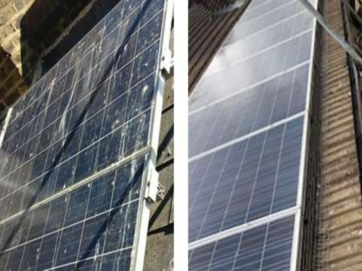 solar panel proofing before and after